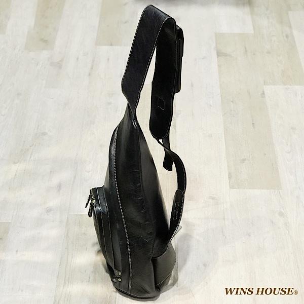 イタリアンレザーワンショルダーバッグ ウインズハウス WINS HOUSEOkXn0w8P