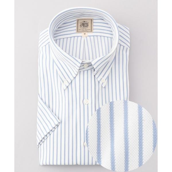 【J.PRESS PLUS】TCカノコインレイストライプ ドレスシャツ / B.D./ジェイ・プレス メン(J.PRESS MEN)