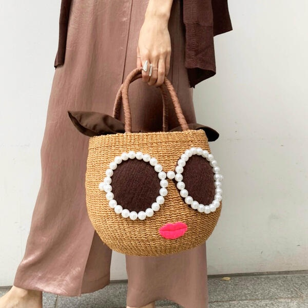【WEB・SC別注】≪a-jolie≫パールサングラスBAG SI-1806/ドロワットロートレアモン(Droite lautreamont)