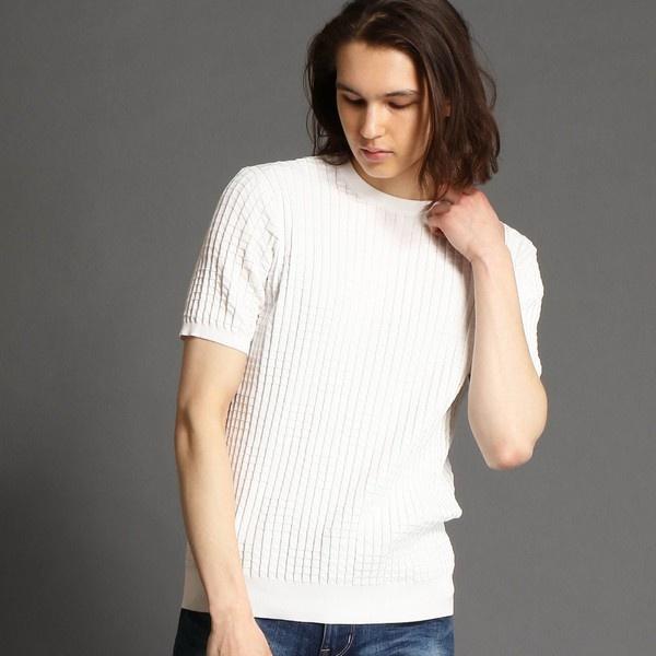 クルーネックニットTシャツ/ムッシュニコル(MONSIEUR NICOLE)