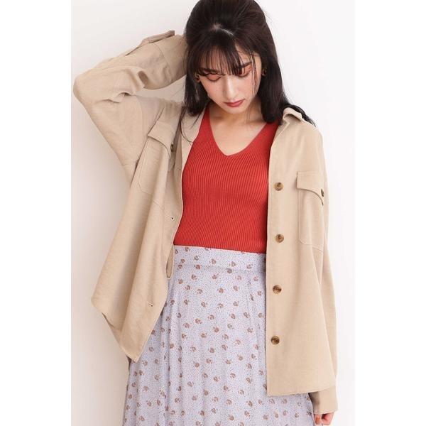 麻調ルーズシャツジャケット/エヌ ナチュラルビューティーベーシック(N.Natural Beauty Basic*)