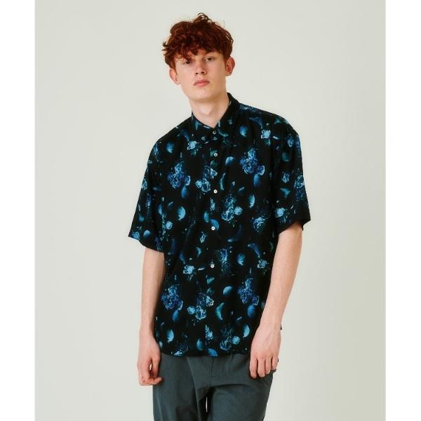 フラワーフェザーオーバーサイズシャツ(5分袖)/ティーケー タケオキクチ(tk.TAKEO KIKUCHI)