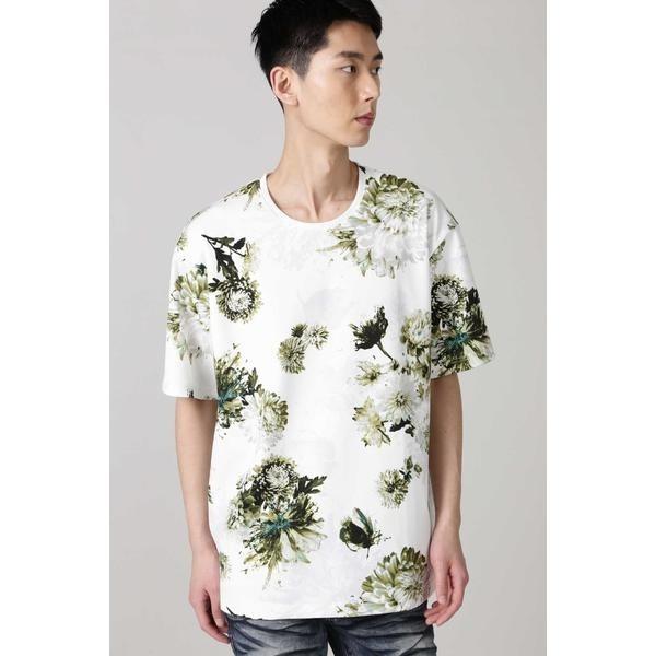 在庫一掃 SALE メンズTシャツ カットソー TORNADO MART 新作入荷!! MART∴ビザールフラワープリントTシャツ トルネードマート