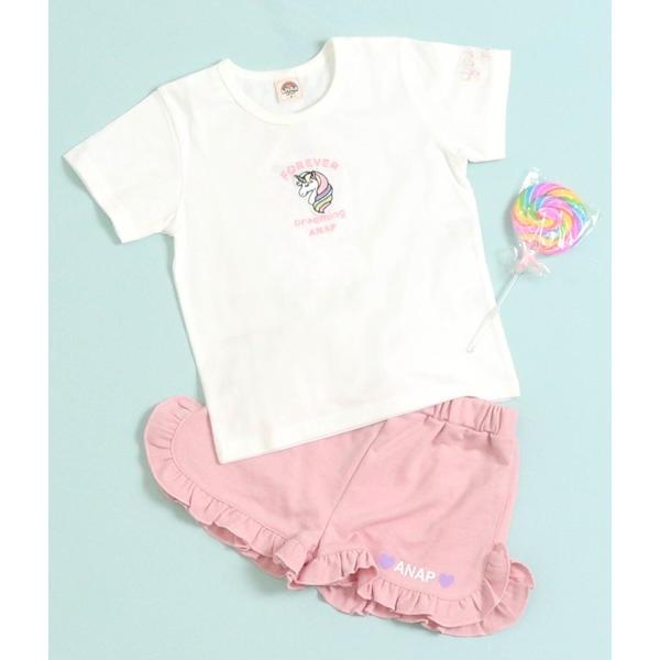 SALE - アウトレットセール 特集 ユニコーン刺繍Tシャツ アナップキッズ !超美品再入荷品質至上! ANAP GIRL KIDS ガール