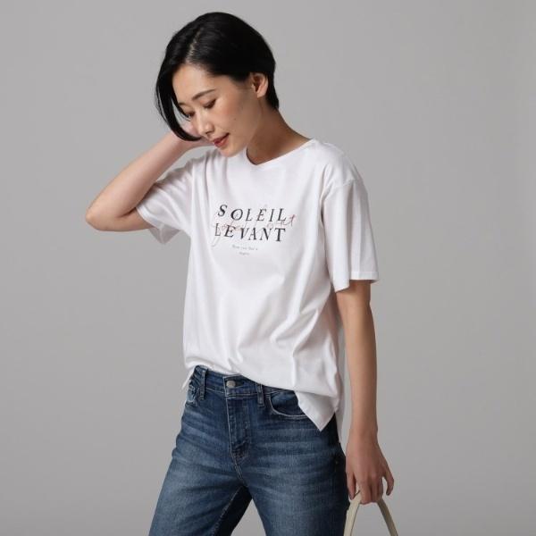 [L]【洗える】コットンロゴTシャツ/アンタイトル(UNTITLED)