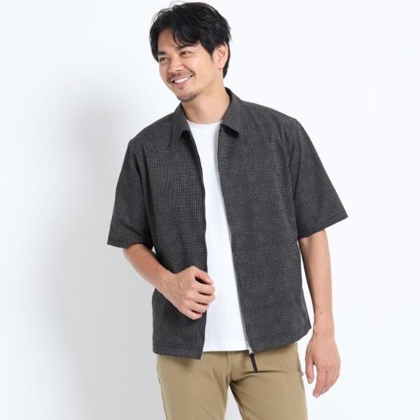 リネンプリントZIP半袖シャツ/タケオキクチ(TAKEO KIKUCHI)