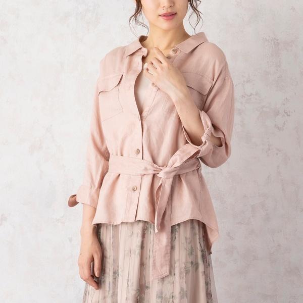 テレデランシャツジャケット/ローズティアラ(Rose Tiara)
