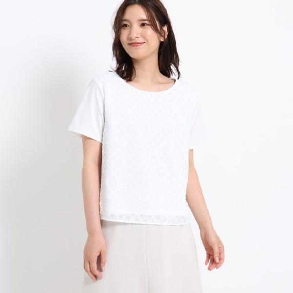 【洗える】異素材ハイゲージカットソー/スーナウーナ(SunaUna)