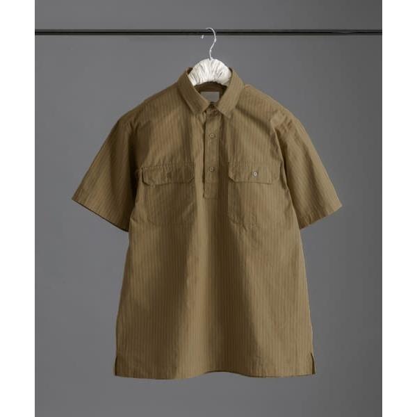 メンズシャツ(【5/22 新入荷】White Label ストライプ半袖プルオーバーシャツ)/アーバンリサーチ ドアーズ(メンズ)(URBAN RESEARCH DOORS)