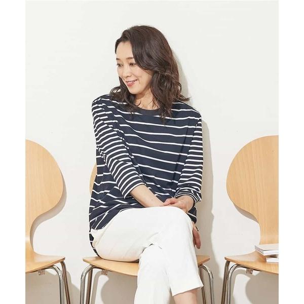 【コットン100%】オーバーサイズボーダーTシャツ/ジョルジュ・レッシュ(GEORGES RECH)