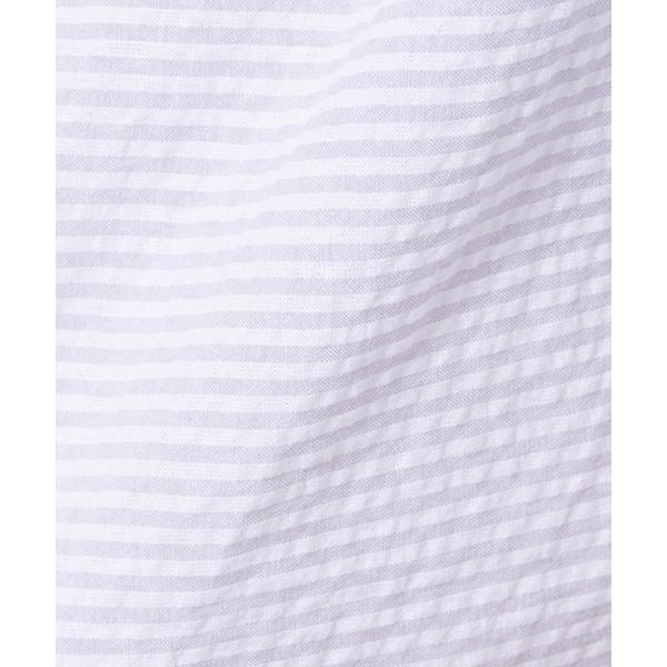 2020春夏新作 スカラップ刺繍衿ストライプブラウス F i n t フィント FINTqSMUpVz
