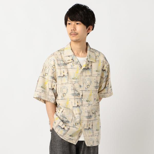 【HELLY HANSEN × reyn spooner】ベイサイドレガッタプリントシャツ HRE4/フレディ&グロスター メンズ(FREDY&GLOSTER)