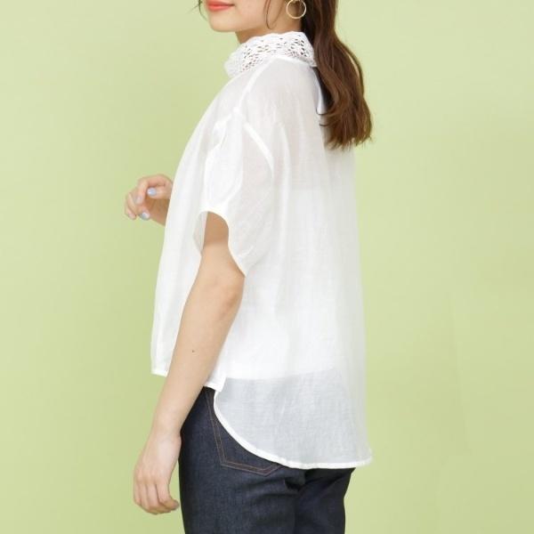 haupia シースルー襟レースブラウス/アナトリエ(anatelier):丸井(マルイ)店
