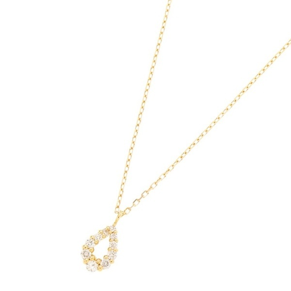 K18ダイヤモンド グラデペアシェイプ ネックレス小/ココシュニック(COCOSHNIK)