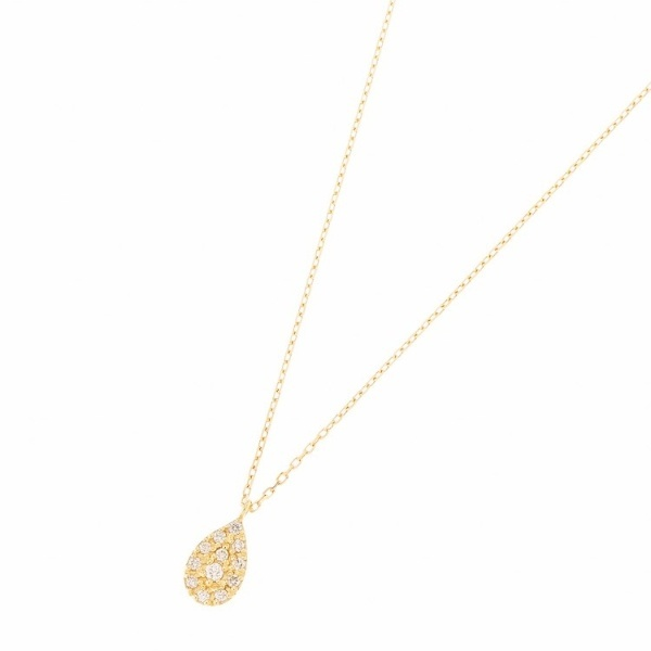 K18ダイヤモンド パヴェペアシェイプ ネックレス大/ココシュニック(COCOSHNIK)