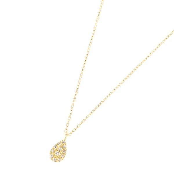 K18ダイヤモンド パヴェペアシェイプ ネックレス小/ココシュニック(COCOSHNIK)