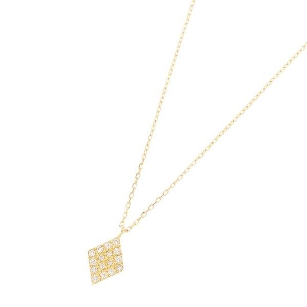 K18ダイヤモンド パヴェひし形 ネックレス大/ココシュニック(COCOSHNIK)