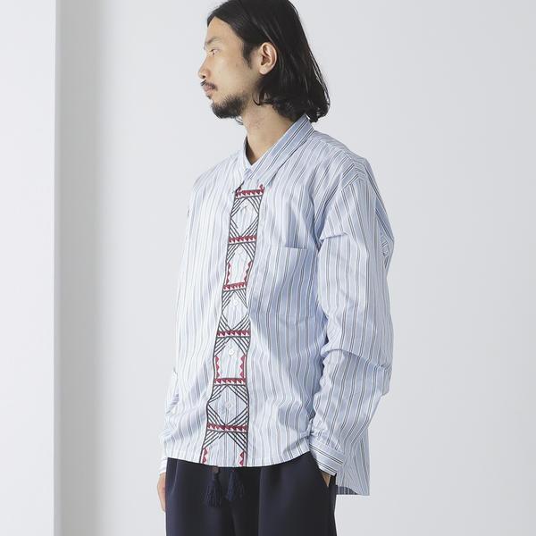 BEAMS LIGHTS / トゥアレグ刺繍 ドロップネックシャツ/ビームス ライツ(メンズ)(BEAMS LIGHTS)