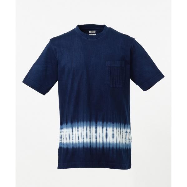 【日本製・琉球藍染め】藍段染めTシャツ/ジョセフ アブード(JOSEPH ABBOUD)