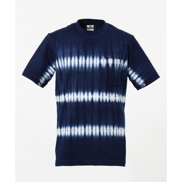 【日本製・琉球藍染め】藍染絞りTシャツ/ジョセフ アブード(JOSEPH ABBOUD)
