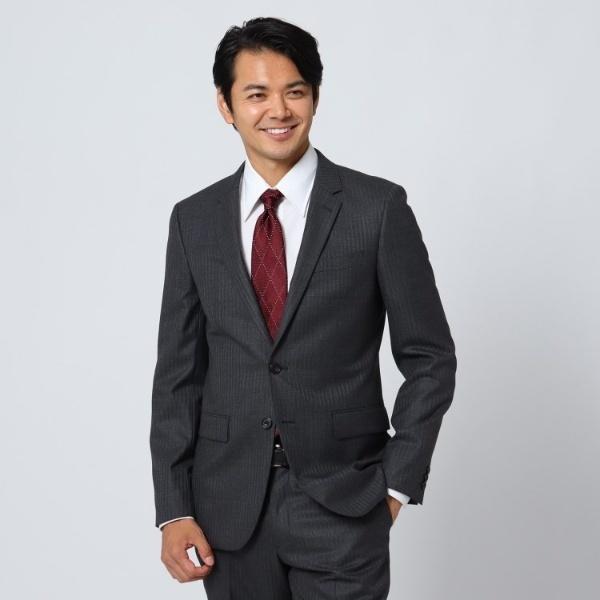 【Sサイズ~】シャイニーヘリンボンストライプ ジャケット/タケオキクチ(TAKEO KIKUCHI)