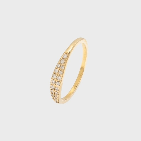 ダイヤモンド マーキースシグネット ピンキーリング/ココシュニック(COCOSHNIK)