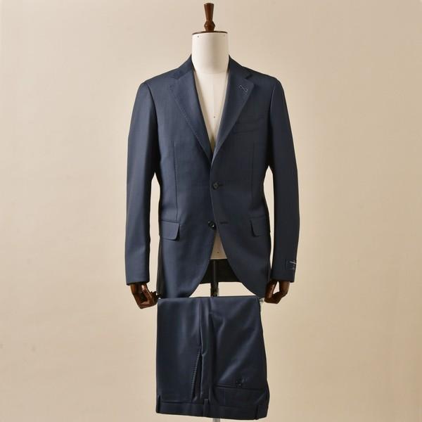 SD: エルメネジルド ゼニア トラベラー ピンヘッド ブルー スーツ/シップス(メンズ)(SHIPS)
