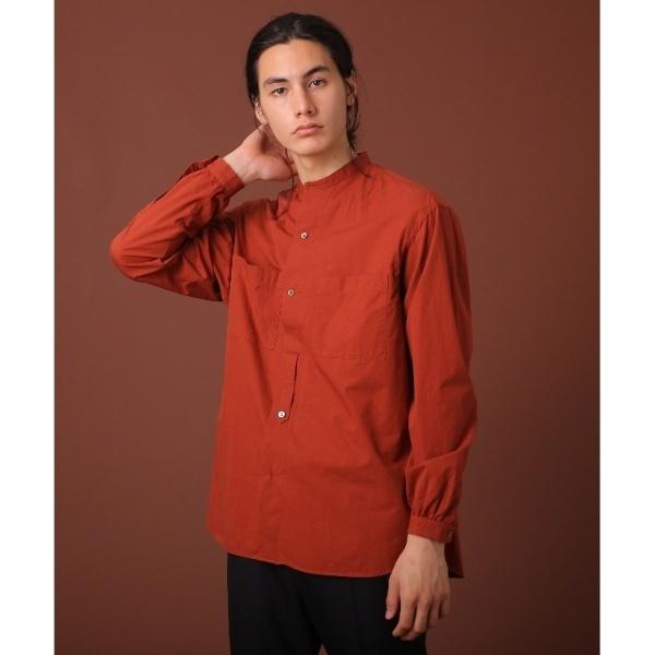 ダブルポケットバンドカラーシャツ/ドレステリア(メンズ)(DRESSTERIOR Mens)