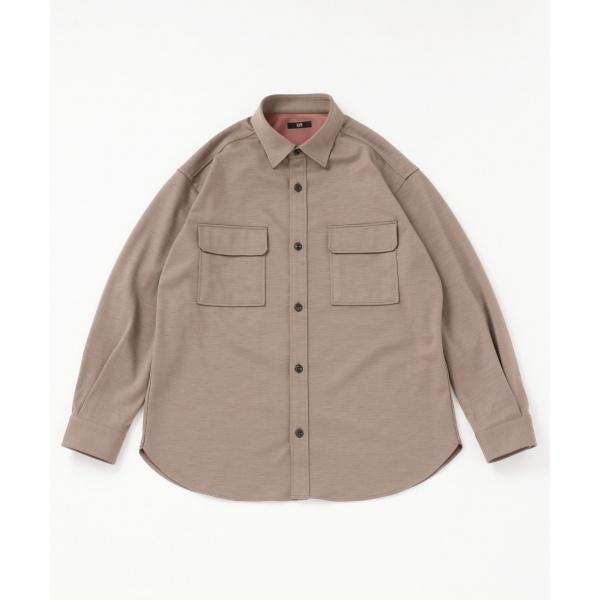 【キングサイズ】ウールリバージャージーシャツアウター/23区 HOMME(NIJYUSANKU HOMME)