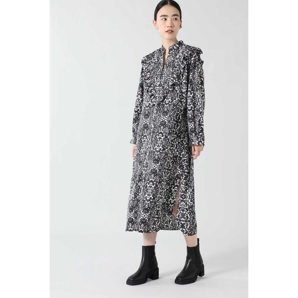 SALE オンライン限定商品 ワンピース グラフィックプリントフリルシャツドレス 至上 ローズバッド
