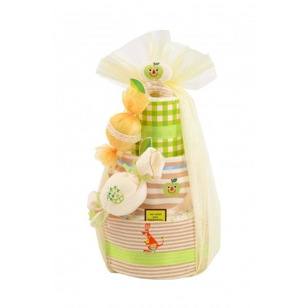 【おむつケーキ】ダイパーケーキ(オーガニックキャンディー青りんご)/ダッドウェイ(DADWAY )