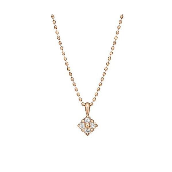 ダイヤモンド4セキフラワーネックレス( PG)/テイクアップ ピュア(TAKE-UP PURE)