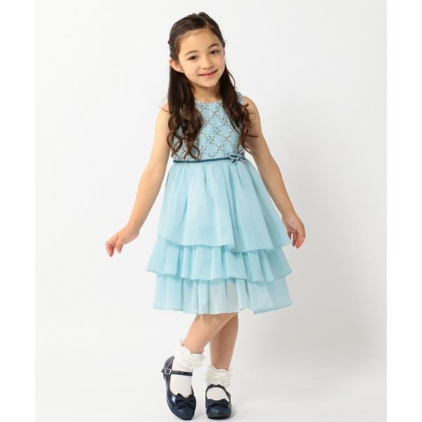 【TODDLER】小紋幾何フラワー ドレス/組曲 キッズ(KUMIKYOKU KIDS)