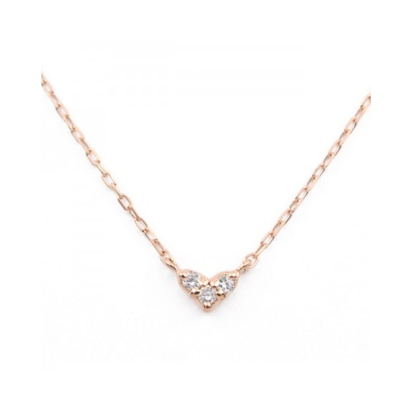 K10ピンクゴールドダイヤモンドハートネックレス/ブルーム(BLOOM)