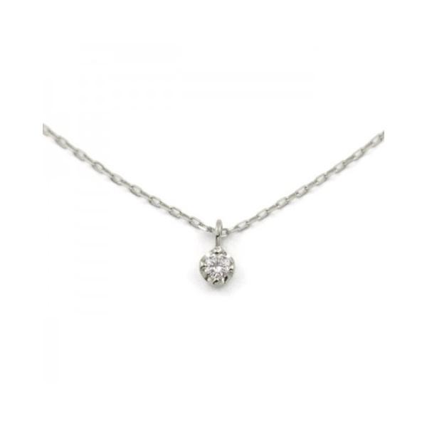 K10ホワイトゴールドダイヤモンド(0.03ct)ネックレス/ブルーム(BLOOM)