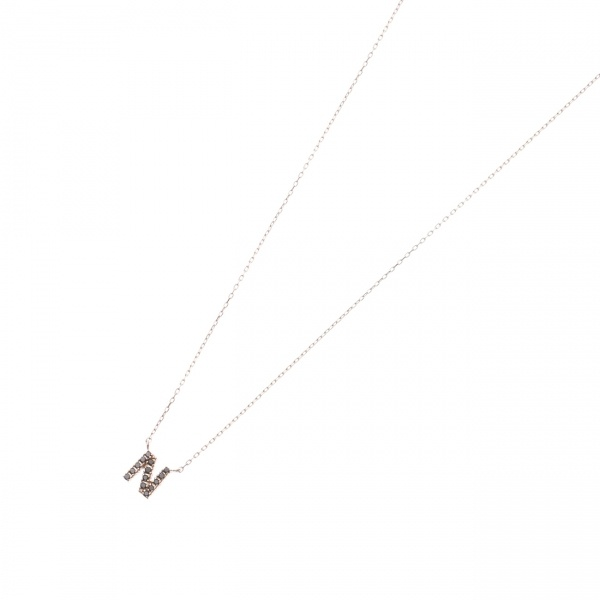 アクセ類(ブラックダイヤモンド イニシャルネックレス N)/ココシュニック(COCOSHNIK)