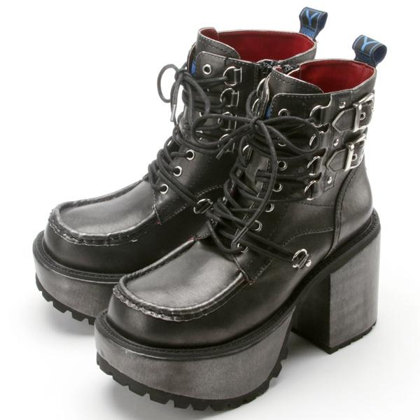 ブーツ(厚底レースアップブーツ)/ヨースケ(YOYOブランド)(YOSUKE YOYO Brand)
