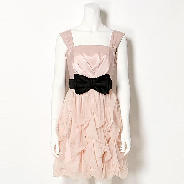 【パーティードレス】マイクロチュール ソフトバルーン ドレス/EMOTIONALL DRESSES(東京ソワール)