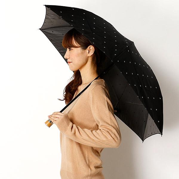 雨傘(3段/折りたたみ/ミニ)ドット(レディース/婦人)/マッキントッシュ フィロソフィー(MACKINTOSH PHILOSOPHY)