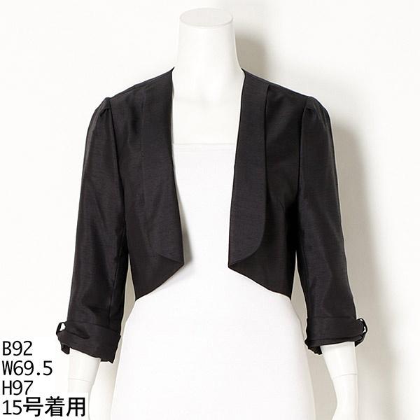 袖口リボン風 ジャケット 羽織り(結婚式 お呼ばれ パーティ フォーマル 同窓会 )/ジュネ