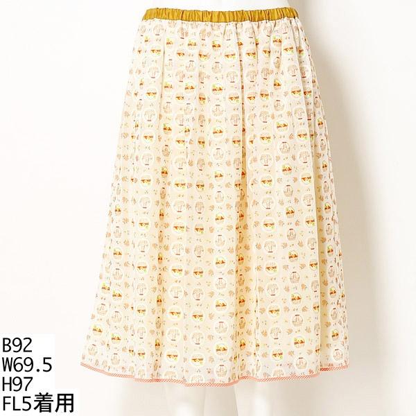 【大きいサイズ】まんまるバスケットねこスカート/フランシュリッペ(大きいサイズ)(franche lippee)