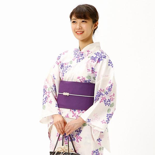【2018年新作】ラクチンきれい浴衣がく紫陽花 【単品】/アールユー(浴衣)(ru)