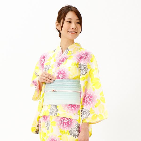 ラクチンきれい浴衣 花と菊 【単品】/アールユー(浴衣)(ru)