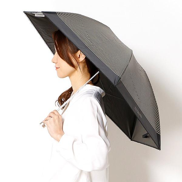 【折りたたみ日傘 3段折】【軽量/遮光&UV遮蔽率99%以上/遮熱】ボーダー 晴雨兼用/マッキントッシュフィロソフィー(傘・ネックウェア・帽子)