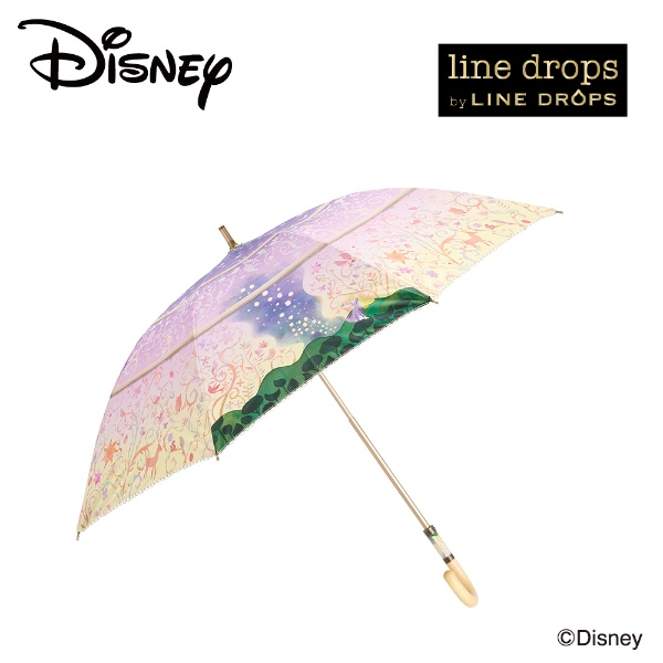 日傘【ディズニー】(晴雨兼用/手開/撥水/UVカット&遮光率99%以上/遮熱/スライドハンドル)/LINEDROPS(ラインドロップス)