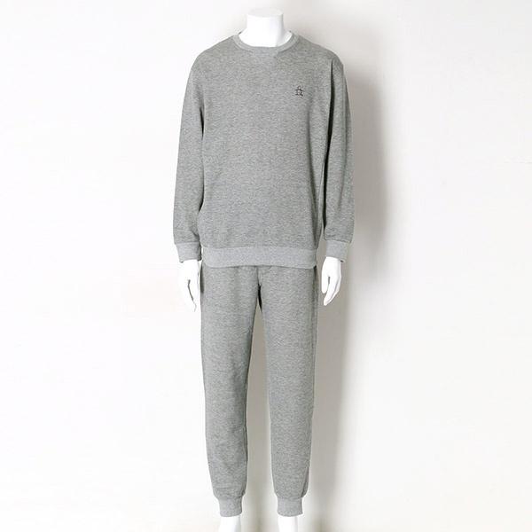 TOP杢無撚糸裏毛無地クルー/マンシングウェア(Munsingwear)