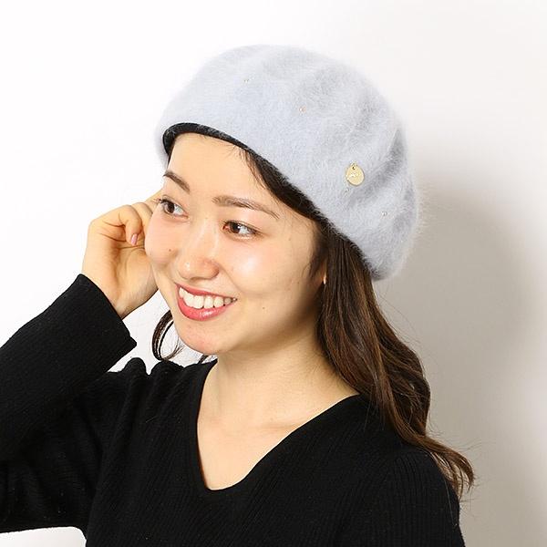 【サイズ調整OK】メタルパーツ付き ふわふわアンゴラベレー/フルラ(ネックウェア・帽子)(FURLA)