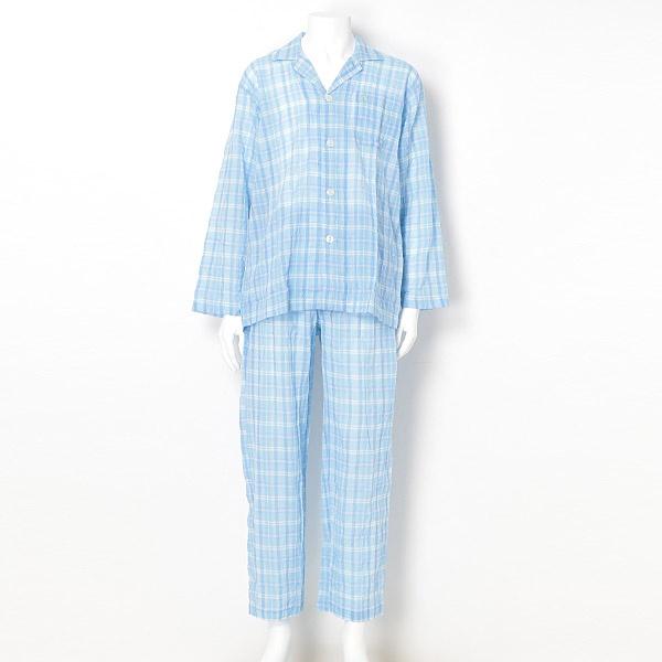 テンセル混ワッシャーチェックテーラー/マンシングウェア(Munsingwear)