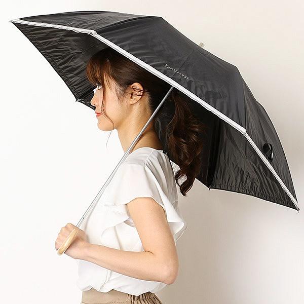 日傘(2段折り畳み/晴雨兼用/楽々開閉)【軽量フワクール/遮光&UV遮蔽率99%以上/遮熱】裾テープ/マッキントッシュフィロソフィー(傘・ネックウェア・帽子)