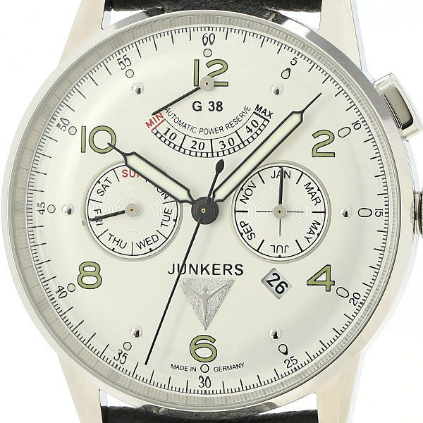 メンズ時計(G38 トリプルカレンダー パワーリザーヴ メンズ(自動巻き【型番:6960-4AT))/ユンカース(時計)JUNKERS